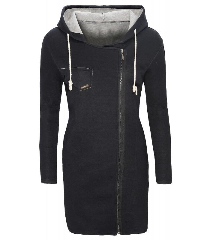 Damen Übergangs Mantel lange Jacke Einheitsgröße D 139