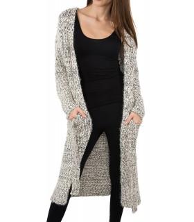 Damen Strickjacke Pullover Strickpullover lange One Size D-142