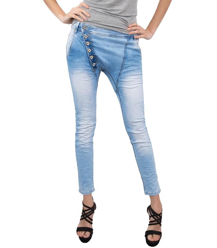 Damen Jeans Hose Joggjeans Denim Blau D-161