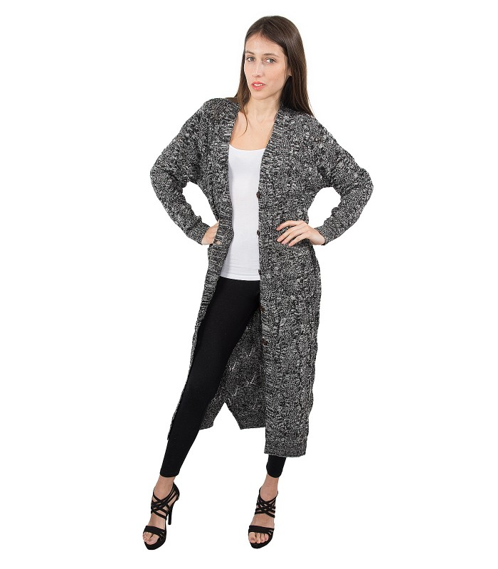 low priced 54e21 7dca9 Damen Strickmantel Übergangs Jacke D-165