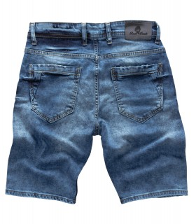 Rock Creek Herren Jeans Shorts Blau Used-Look RC-2122