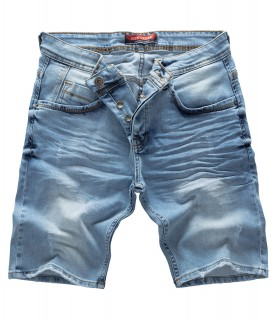 Rock Creek Herren Jeans Shorts Denim Hellblau RC-2121