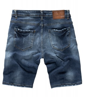 Rock Creek Herren Jeans Shorts Destoryed Dunkelblau RC-2130