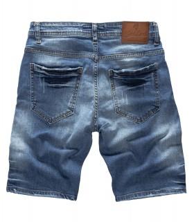Rock Creek Herren Jeans Shorts Destroyed Blau RC-2123