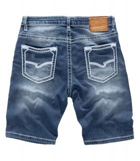 Rock Creek Herren Jeans Shorts Blau Dicke Nähte Weiss RC-2134