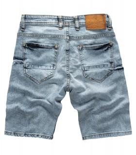 Rock Creek Herren Jeans Shorts Hellblau RC-2136