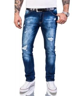 Rock Creek Herren Designer Jeans Slim Fit Hose Destroyed Look Denim W29-W40 M48