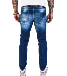 Rock Creek Herren Jeans Slim Fit Destroyed Look Blau RC-2142