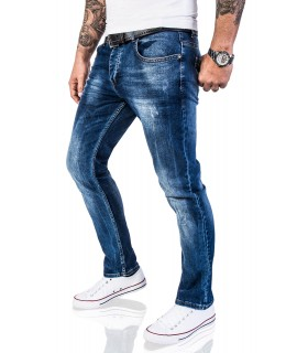 Rock Creek Herren Jeans Hose Regular Fit Dunkelblau RC-2110A