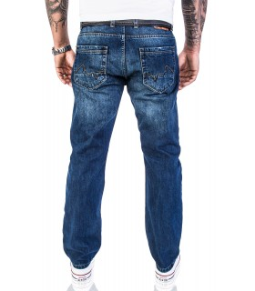 Rock Creek Herren Jeans Hose Regular Fit Dunkelblau RC-2140