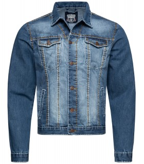 Rock Creek Herren Jeansjacke Denim Dicke Naht RC-2043
