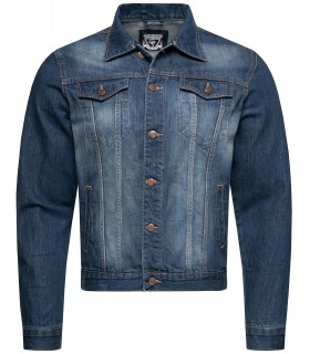 Rock Creek Jeans Sommer Biker Jacke Denim Jacket Übergangsjacke Blau RC-2044