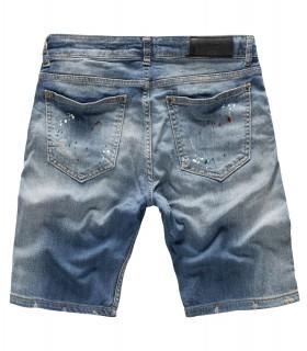 Herren Jeans Shorts Bermuda Hose Denim Sommer Short Blau