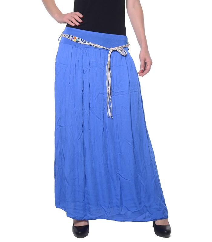 Damen Maxirock mit Gürtel Kleid Damenrock Sommer Röcke hoher Bund