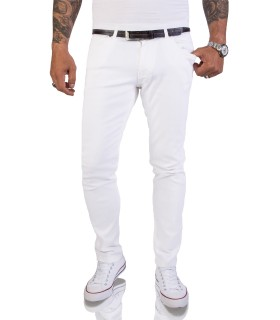 Rock Creek Herren Jeans Hose Slim Fit Weiß RC-2155