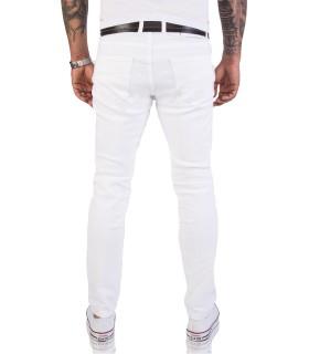 Rock Creek Herren Jeans Hose Slim Fit Weiß RC-2155
