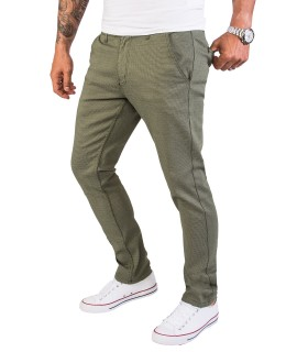 Rock Creek Herren Chino Hose Slim Fit mit Punktemuster RC-2154