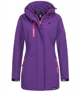Rock Creek Damen Softshell Jacke Mantel Lang D-423