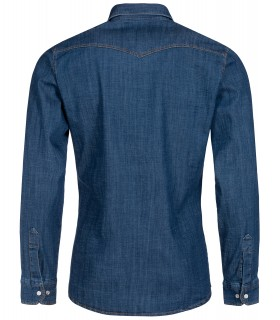 Rock Creek Herren Jeanshemd Kentkragen Blau H-199