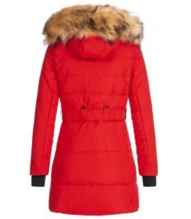 Damen Winter Jacke Mantel mit Kunstfellkragen D-435