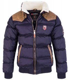 Geographical Norway Herren Stepp Winter Jacke Teddyfellkragen H-213