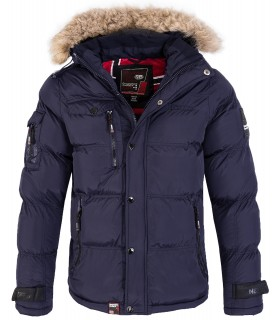 Geographical Norway Herren Winter Jacke Kunstfellkragen H-214