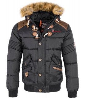 Geographical Norway Herren Winter Jacke Kunstfellkragen H-216