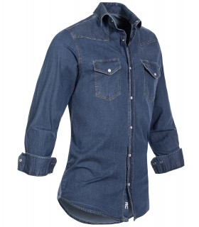 Rock Creek Herren Jeanshemd Kentkragen Blau H-200