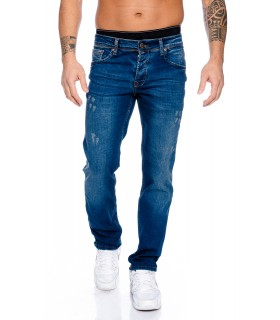 Rock Creek Herren Jeans Blau Used Look RC-2098