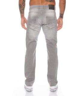 Designer Herren Jeans Hose Stonewashed Stretch Regular-Fit