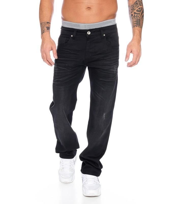 herren jeans hose knittereffekt herrenjeans schwarz