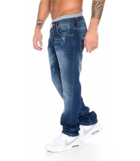 herrenjeans denim herren hose jeans blau stonewashed