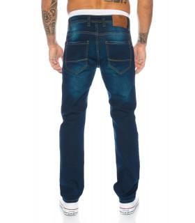 Designer Herren Jeans Clubwear Hose Denim Blau Gerades Bein