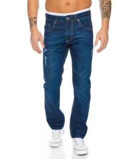 Herren Jeans Hose Blau Used-Look Stonewashed Herrenjeans LL-314