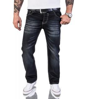 Herren Designer Jeans Hose Wachsbeschichtung Coated Stonewash