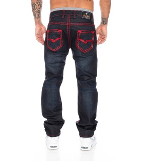 Rock Creek Herren Jeans Comfort Fit Schwarz RC-2092