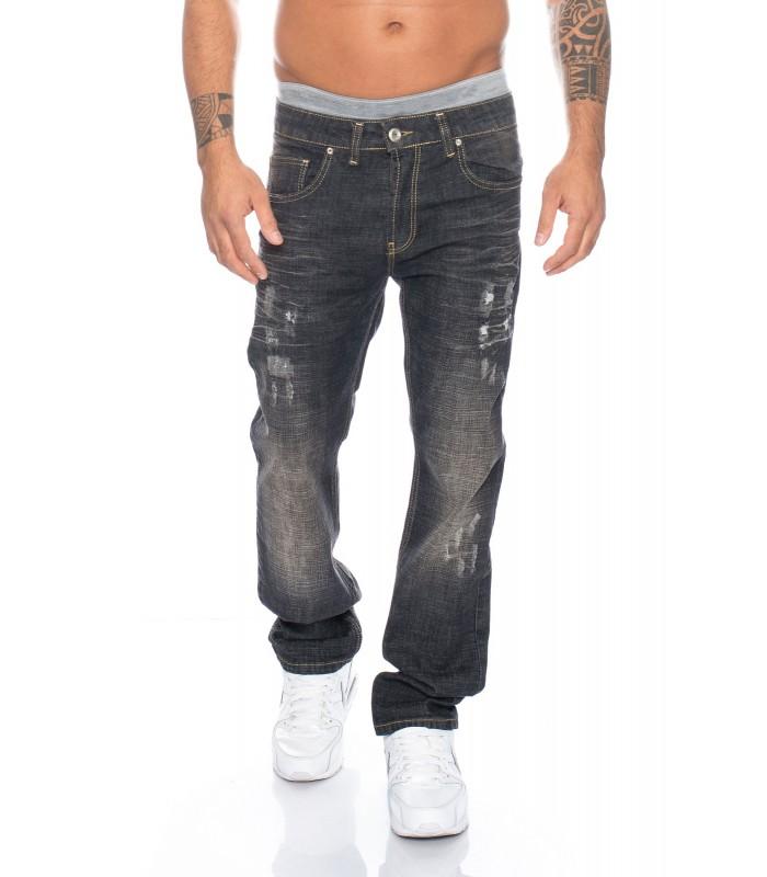 Designer herren jeans hose schwarz vintage style herrenjeans