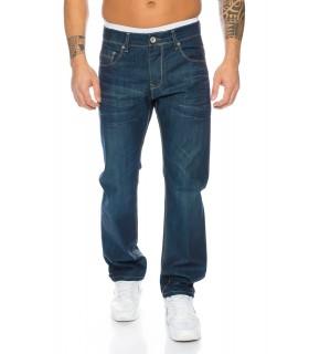 Designer Herren Jeans Used-Look Jeans Denim Blau