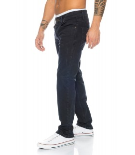 Rock Creek Herren Jeans Regular Fit Schwarz RC-2099
