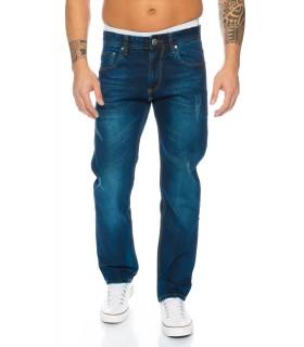 Herren Jeans Hose Straight-Cut Jeans Denim Vintage Style