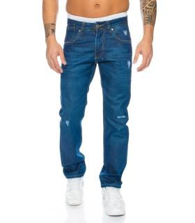 Herren Jeans Hose Regular Slim Denim Jeans Blau