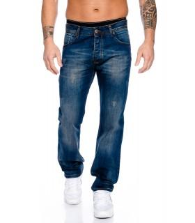 Designer Herren Jeans Hose Straight-Cut Gerades Bein Clubwear
