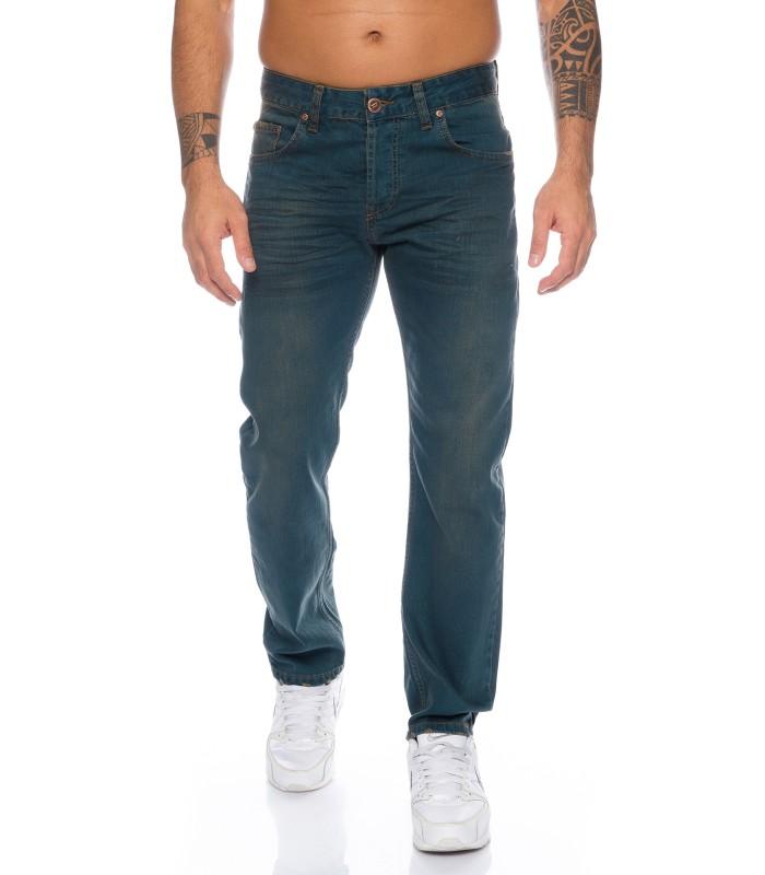 Lorenzo Loren Herren Jeans Regular Fit Dunkelblau LL 325