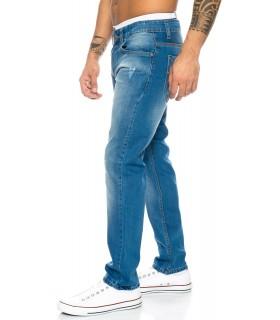 Lorenzo Loren Herren Jeans Comfort Fit Blau LL-394