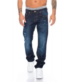 herren jeans hose straight-cut herrenhose blau