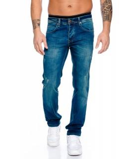 Designer Herren Jeans Hose Raw Gerades Bein Straight-Cut