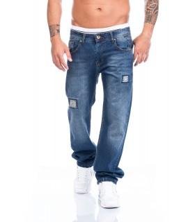 Lorenzo Loren Herren Jeans Hose dunkelblau blau Regular Straight LL-2518