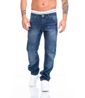 Lorenzo Loren Herren Designer Jeans Denim Hose Blau Herrenhose LL-2517