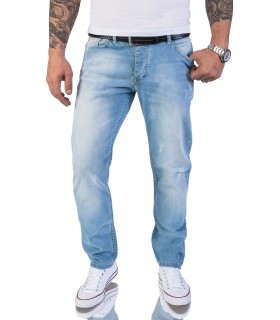 Rock Creek Herren Jeans Regular Fit Hellblau RC-2119