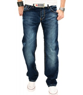 Rock Creek Herren Jeans Comfort Fit Dunkelblau RC-2019